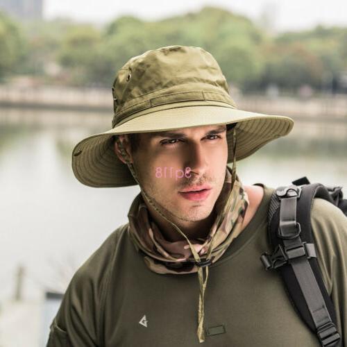 Outdoor Hunting Fishing Bucket Hat Brim Sun Camo Military Unisex