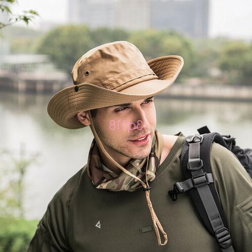 Outdoor Fishing Hat Wide Sun Camo Military Unisex