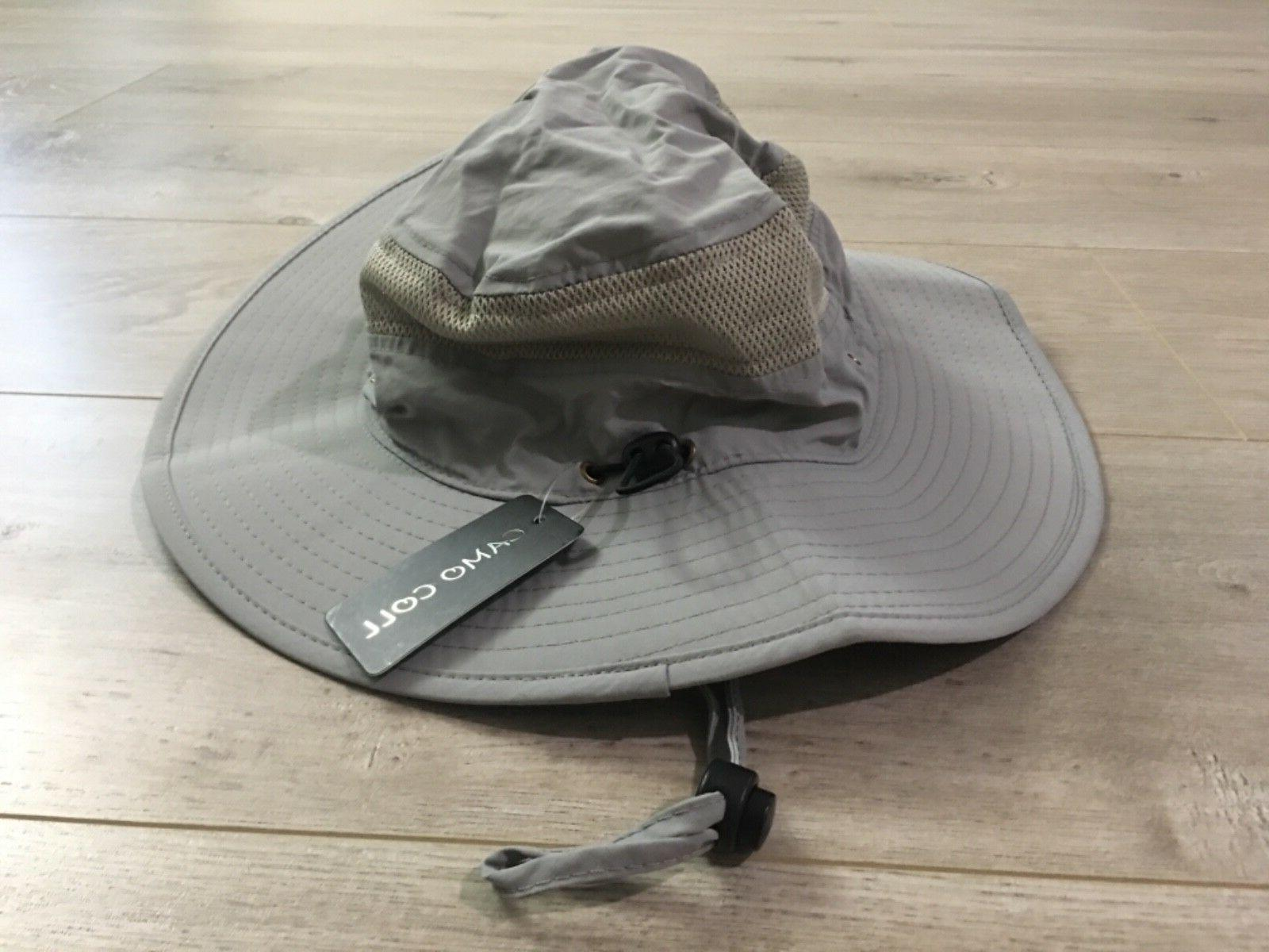 Camo Coll Outdoor Sun Cap Bucket Mesh Boonie Hat Light Gray