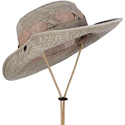 outdoor sun protection wide brim boonie hat