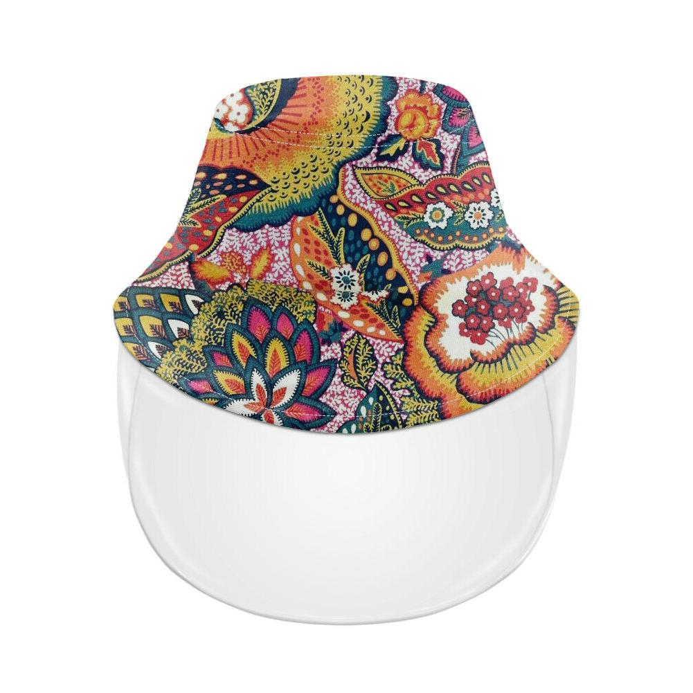 Paisley Bucket Hat for Women Girls Protective Full Face Cap Hats