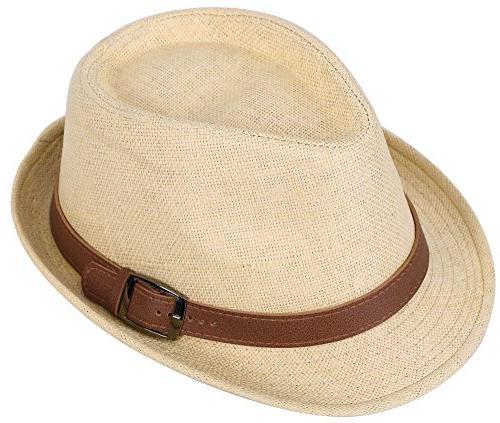 panama style fedora straw sun hat