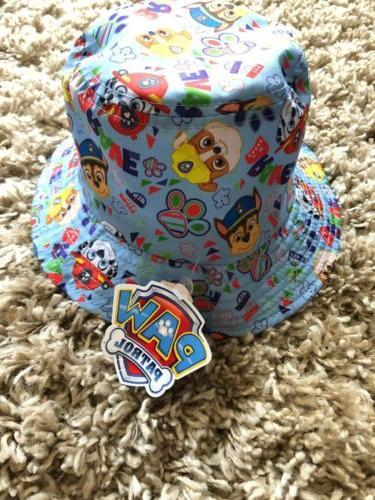 PAW Toddler Blue/Yellow Bucket Beach Hat OSFM