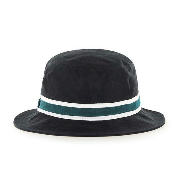 Philadelphia NFL Striped Bucket Floppy Beach Sun Hat Cap S/M
