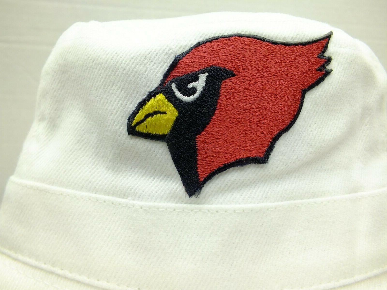 PHOENIX CARDINALS NFL BUCKET HAT WHITE NWT PEARSON