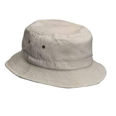 Pigment Dyed Twill Bucket Hat Plain Solid MCI Caps