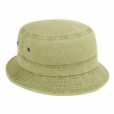 pigment dyed twill cotton bucket hat plain