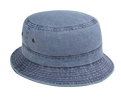 pigment dyed twill washed bucket cap kid