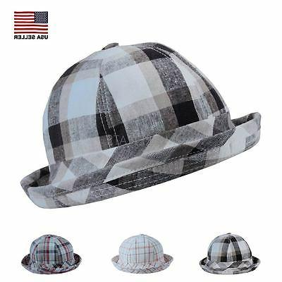 plaid cotton linen soft summer winter bucket