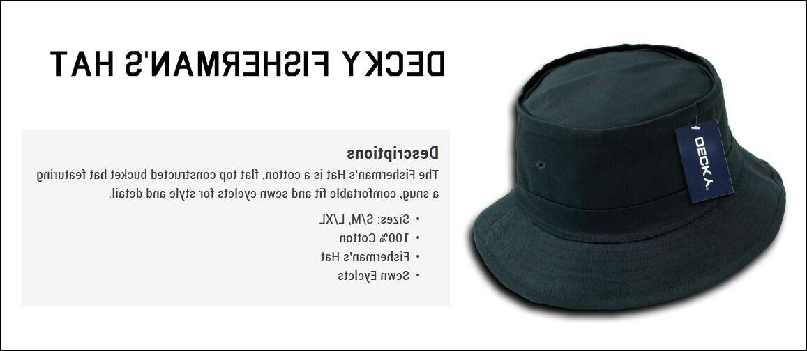 DECKY Plain Blank Bucket Hat