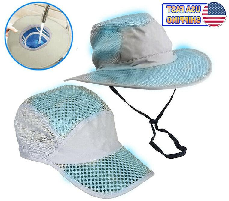 polar hydro evaporative cooling hat uv reflective