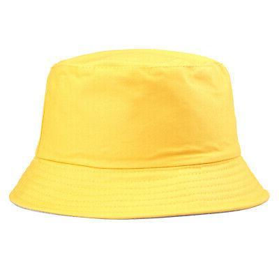 Bucket Hunting Solid Color Cap Women Men Summer Hats Gracious