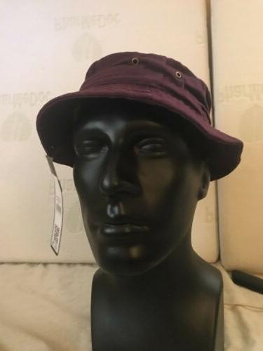 Purple Bucket Hat Cap Hip hop Unisex Size L Beach hats