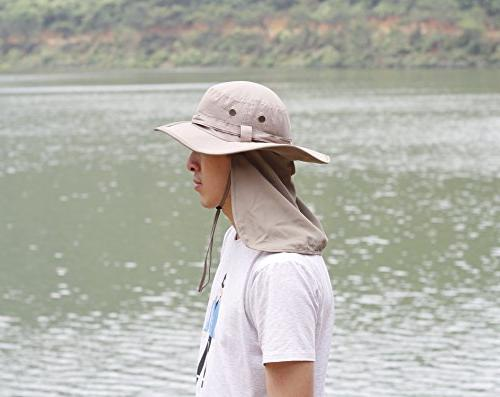 Home Unisex Drying UV Protection Sun with Neck Cover Foldable Cap Smoky