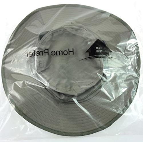Home Prefer Drying UV Protection Sun Hat with Neck Cap Smoky