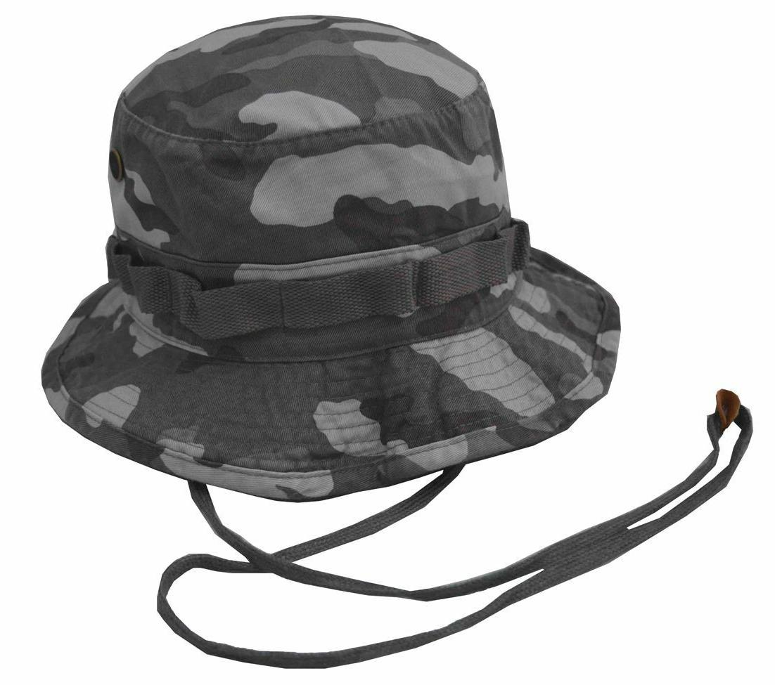 rapiddominance military camouflage bucket hat with chin