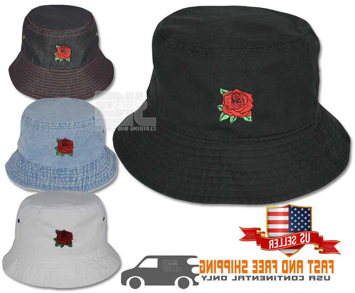 red rose embroidery cotton packable summer travel