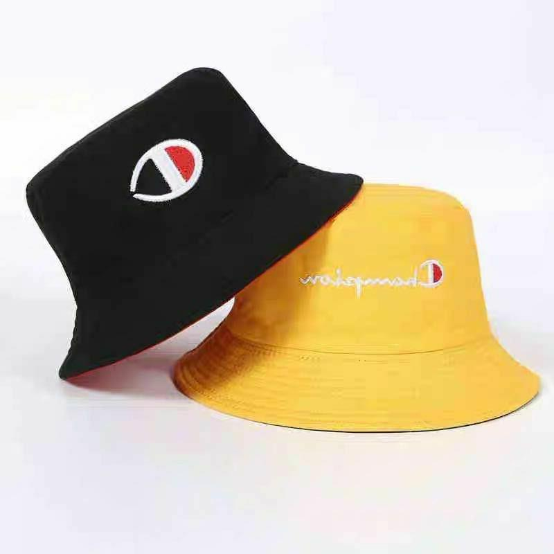 Reversible Letters Bucket Hat Sun Caps for Unisex