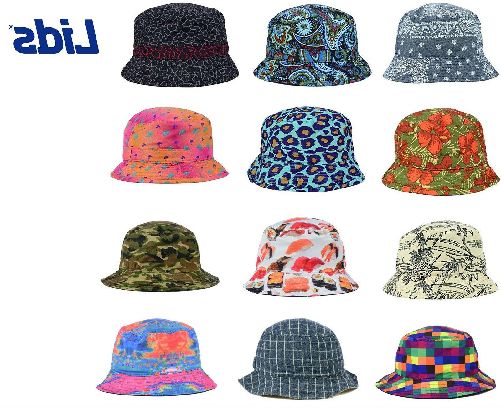 0e6e76350e0 LIDS Reversible Printed Bucket Hat - MANY STYLES - ALL SIZES