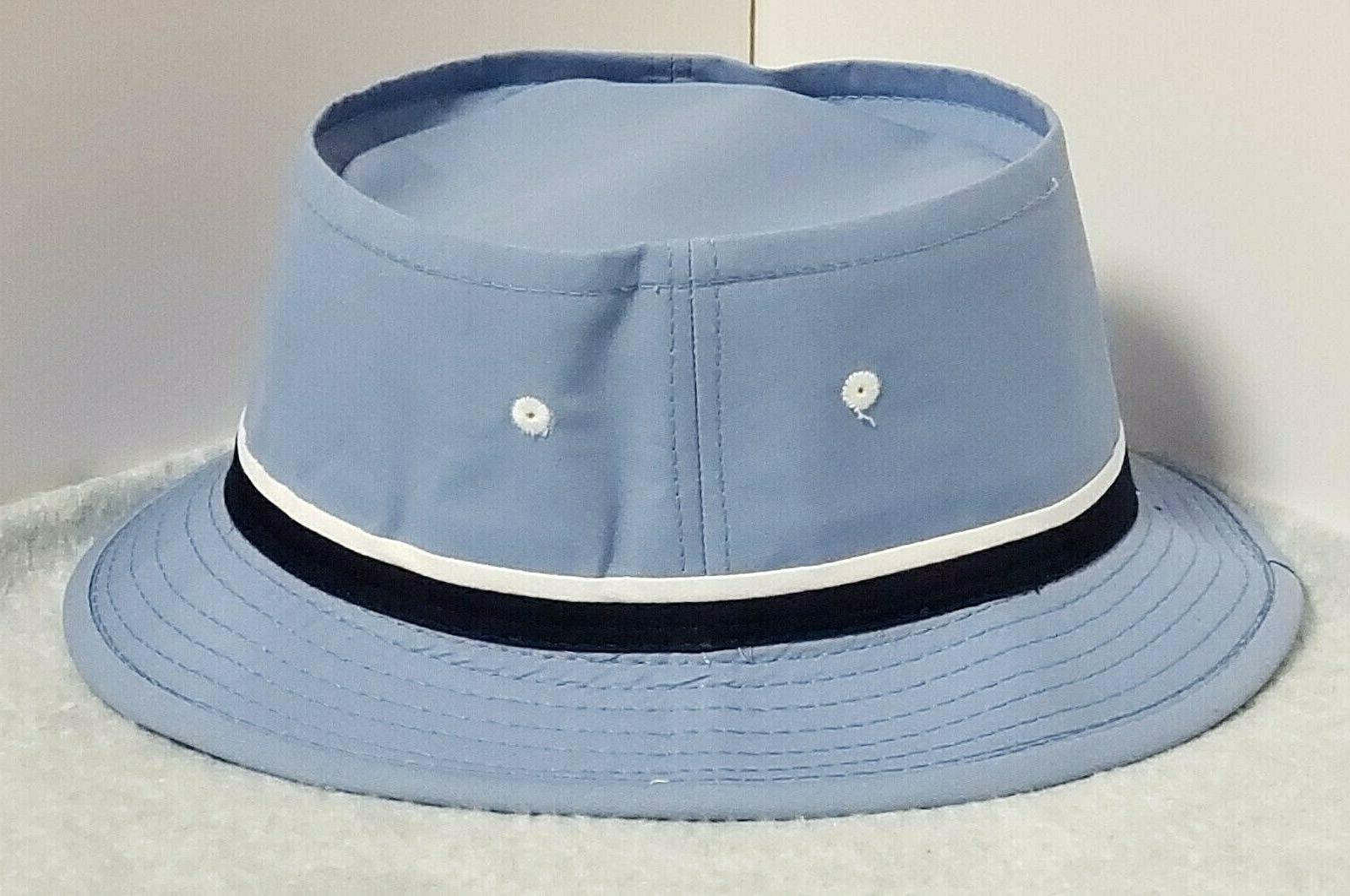 roll up bucket hat light blue mens