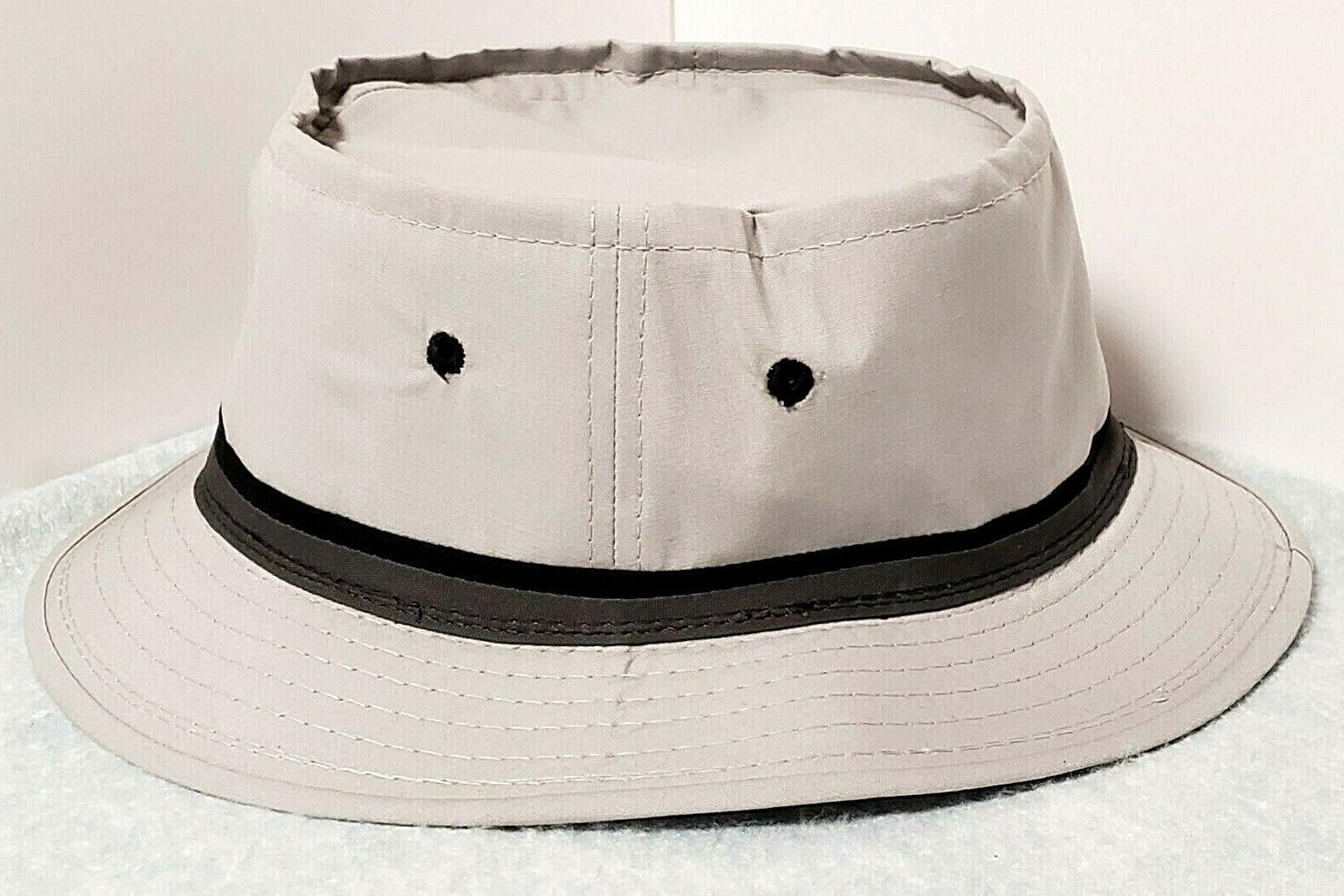roll up bucket hat light gray mens