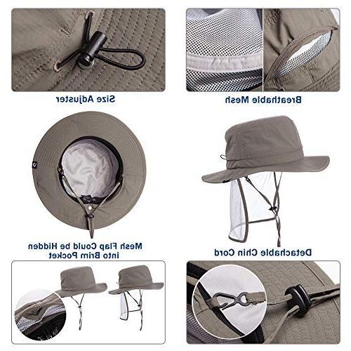 Fancet UPF50 Fishing Bush Hat Bucket Women Navy