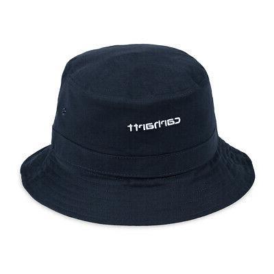 script bucket hat dark navy white mid