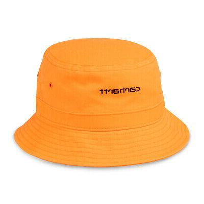 script bucket hat pop orange black mid