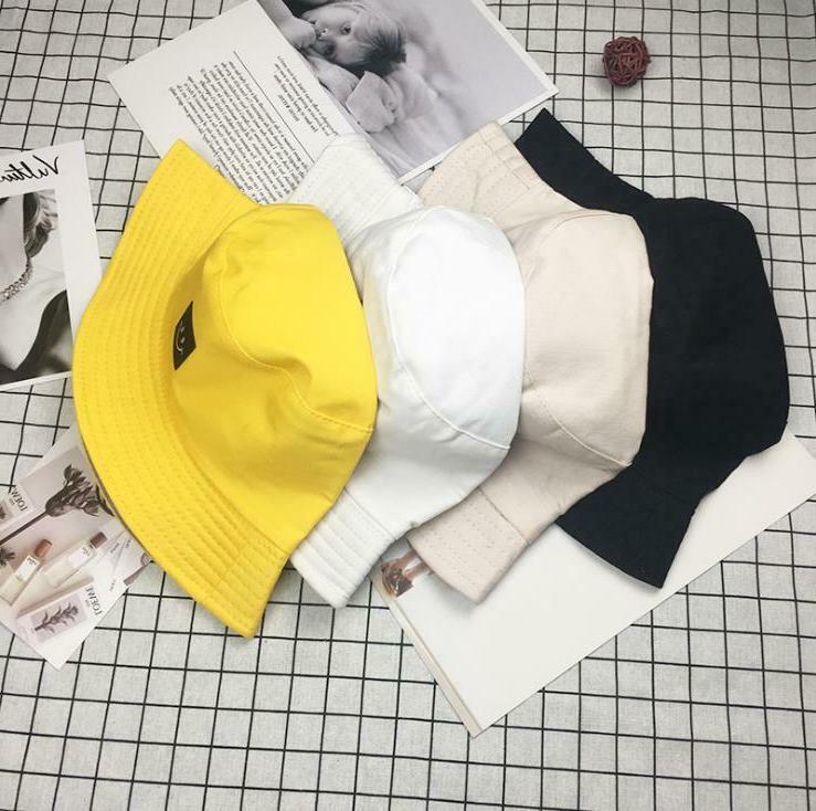 Smile Bucket Hat Cotton Fishing Camping