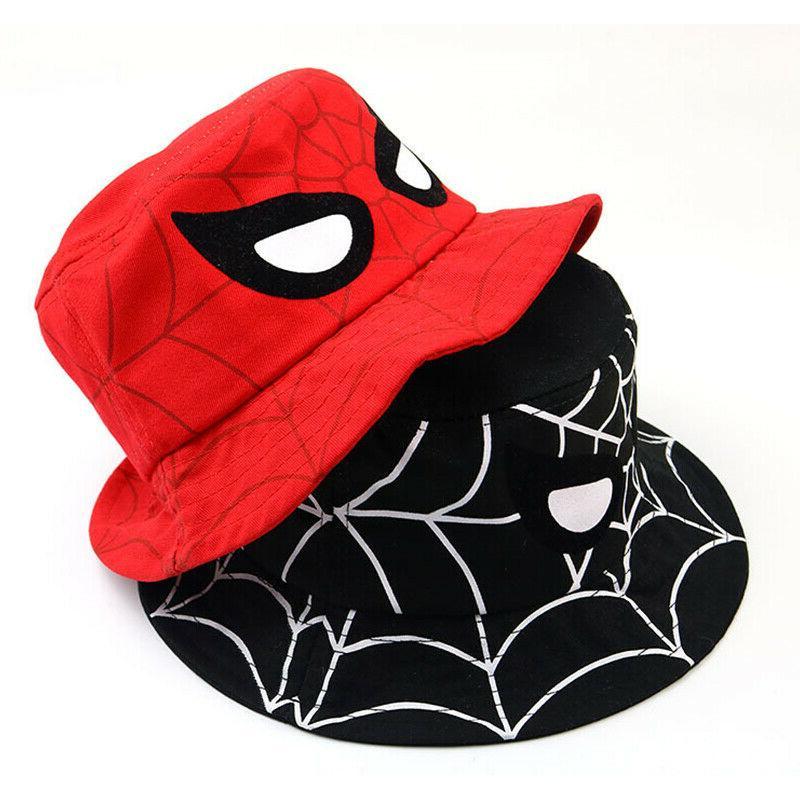 Kids Boys Hat Hats Spider Fishing