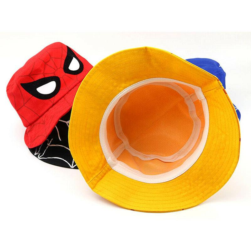 Kids Girl Bucket Hat Sun Hats Beach Spider Fishing Bonnet Hat