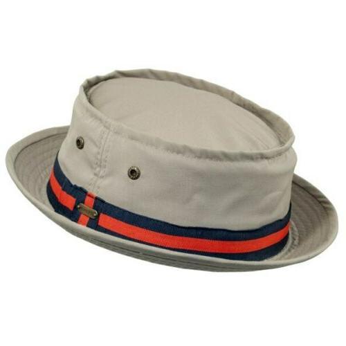 stetson fairway pork pie bucket hat