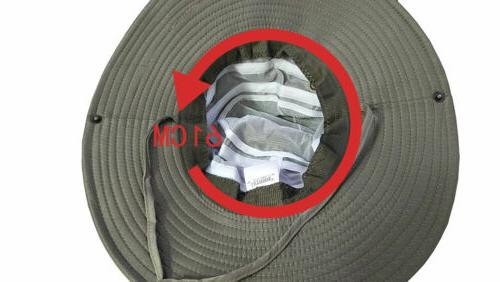 Summer Sun Bucket Boonie Wide Fishing Cap