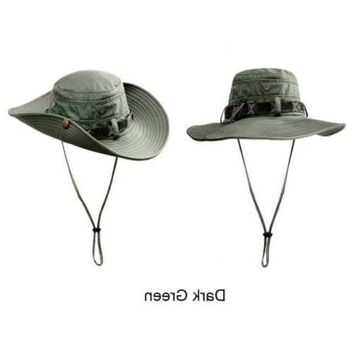 Summer Bucket Boonie Hat Tactical Wide Fishing Cap