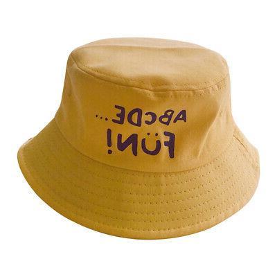 Summer Toddler Letter Print Hat Reversible Cap
