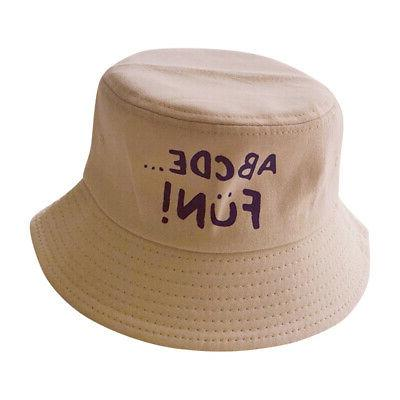 Toddler Letter Print Hat Reversible Headwear Cap