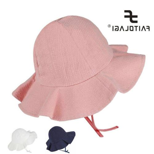 Summer Baby Girls Sun Hat Cotton Bucket Caps Child Sun Cap B