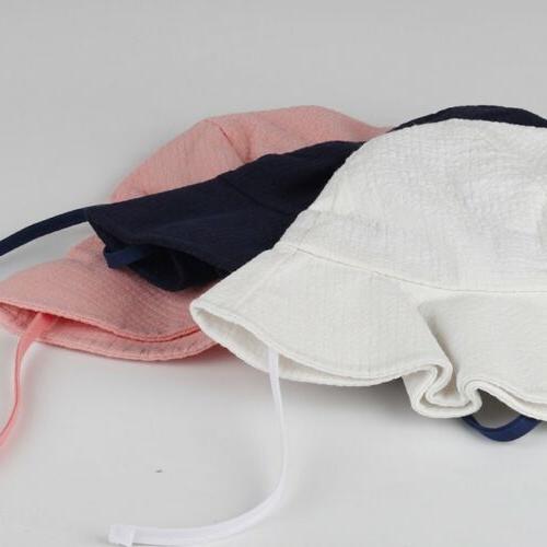 Summer Girls Sun Hat Cotton Bucket Child Sun Brim Beach Hats