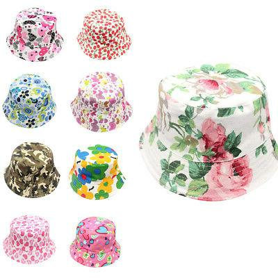 Toddler Baby Girls Caps Beach Bucket Helmet Cap