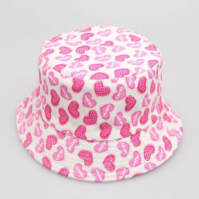 Toddler Girls Floral Beach Bucket Hats Sun Helmet