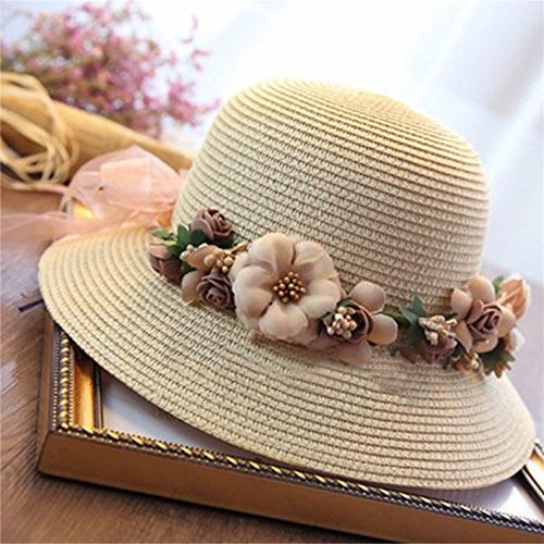 WKING flower protection womens wreath hat foldable cap sunhat lad
