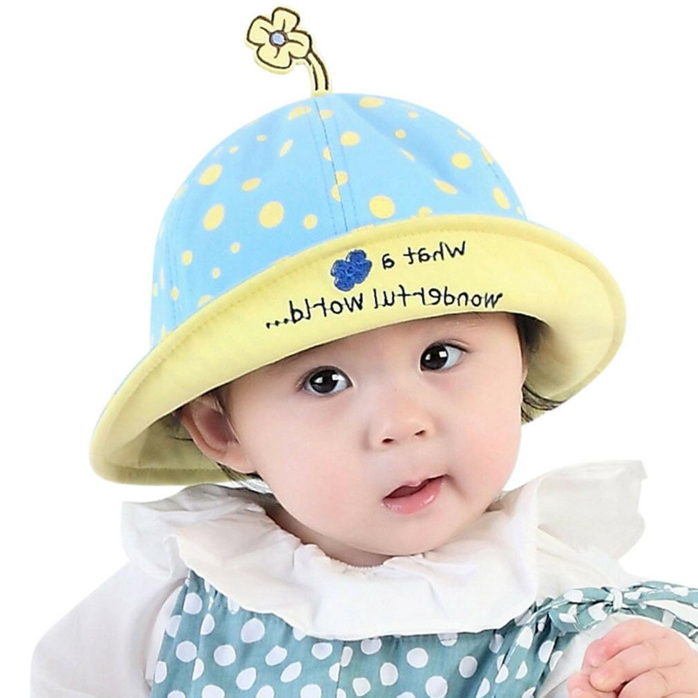 Summer Sun Hats Toddler Infant Baby Girls Wide Brim Beach Bu