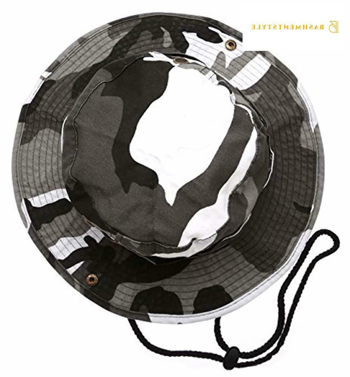 Summer Outdoor Boonie Hunting Fishing Safari Bucket Sun Hat with