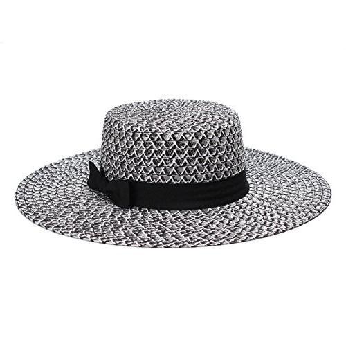 summer straw hat mesh stitching breathable travel