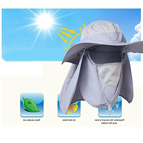 DDYOUTDOOR 07-281 Fashion Outdoor Sun Protection Cap Hat Wide Brim