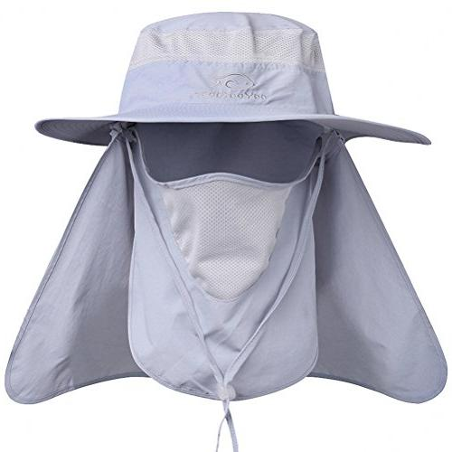 DDYOUTDOOR 07-281 Fashion Outdoor Protection Cap Face Hat Wide