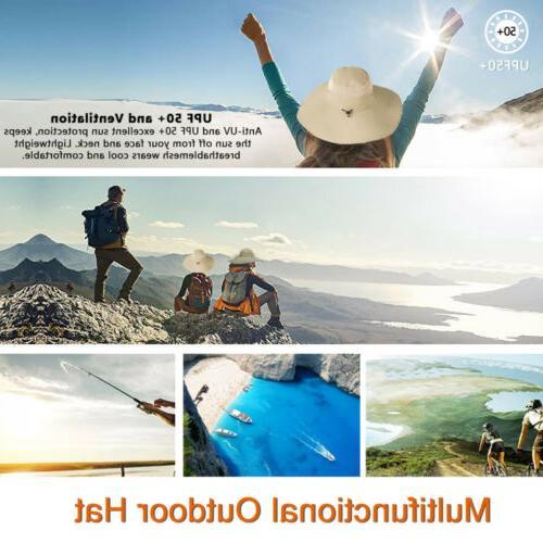 Wide Brim Hat UV Sun Protection Bucket Boonie Cap Hiking