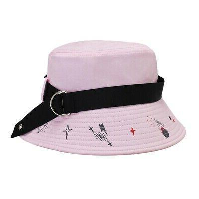 Summer Men Street Style Hop Plain Bucket Hats Cotton