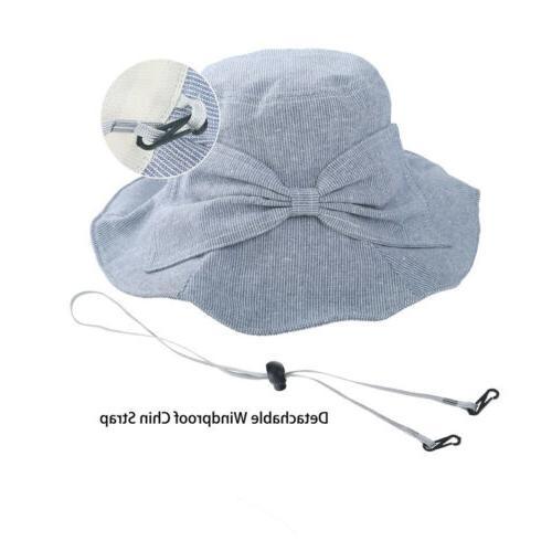 Summer Beach Panama Bucket Hat Wide Brim Floppy