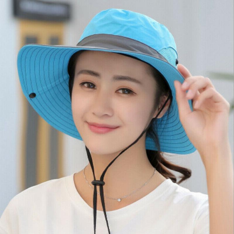 Summer Women's Hat Bucket Hiking Cap Wide Hats